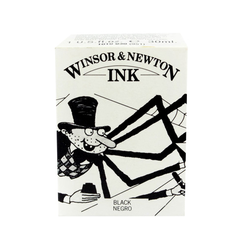 Winsor and Newton | TINTA CHINA WINSOR AND NEWTON 30 ML SIN GOTERO NEGRO | lumen.com.mx