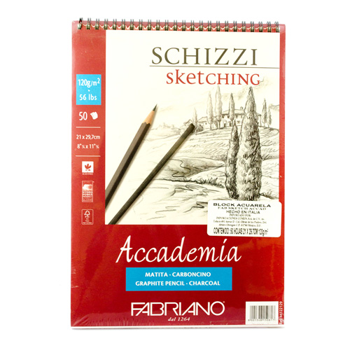 imagen-BLOCK FABRIANO ACCADEMIA SKETCHING 120 G 21X29.7 CM