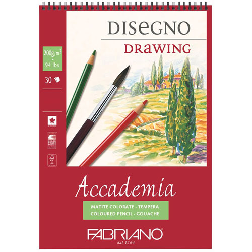 imagen-BLOCK FABRIANO ACCADEMIA DRAWING 200 G 29.7X42 CM