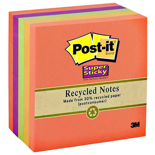 imagen-NOTAS AUTOADHERIBLES POST-IT 76X76MM RECICLA SUPER STICK C/450