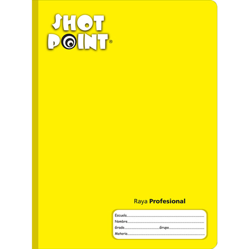 Shot Point | CUADERNO COSIDO PROFESIONAL SHOT POINT RAYA 100 HOJAS | lumen.com.mx