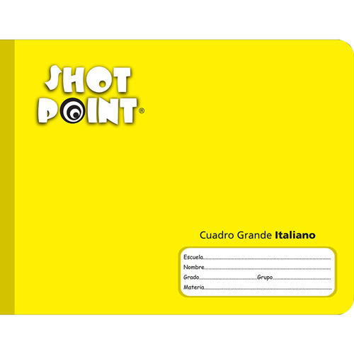 Shot Point | CUADERNO COSIDO FORMA ITALIANA SHOT POINT CUADRO GRANDE 100 HOJAS | lumen.com.mx
