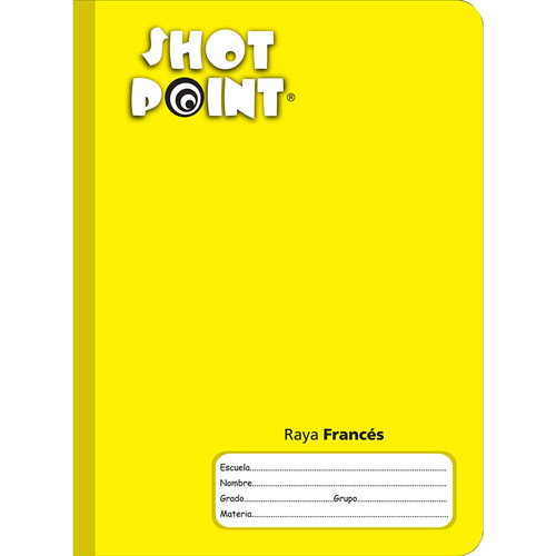 Shot Point | CUADERNO COSIDO FORMA FRANCESA SHOT POINT RAYA 100 HOJAS | lumen.com.mx