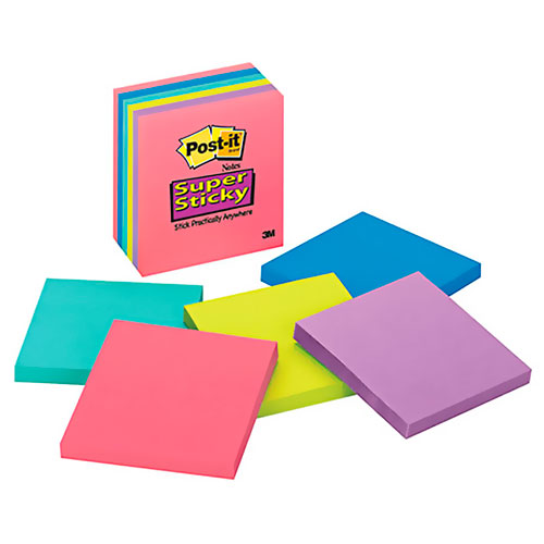 imagen-NOTAS AUTOADHERIBLES POST-IT 76X76MM SUPER STICKY ULTR C/490