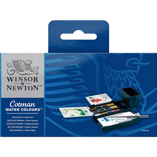 Winsor and Newton | ACUARELAS WINSOR AND NEWTON COTMAN FIELD CON 12 PASTILLAS | lumen.com.mx