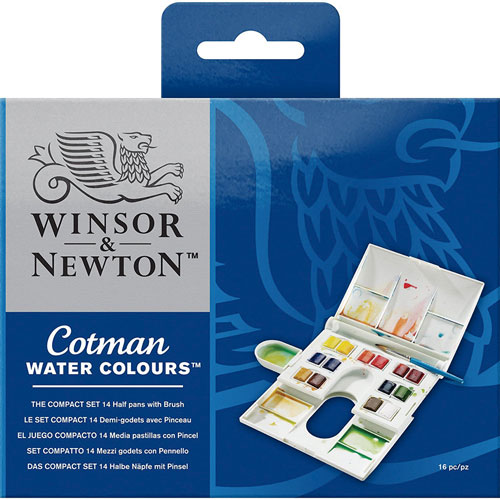 Winsor and Newton | ACUARELAS WINSOR AND NEWTON COTMAN CON 14 PASTILLAS | lumen.com.mx