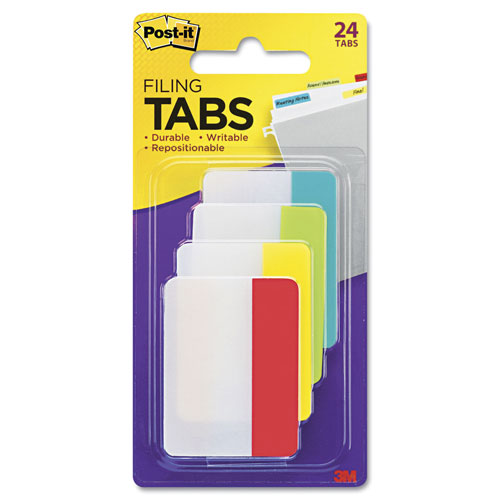 imagen-BANDERITAS AUTOADHERIBLES POST-IT FILING 38X51MM COL PRIM C/24