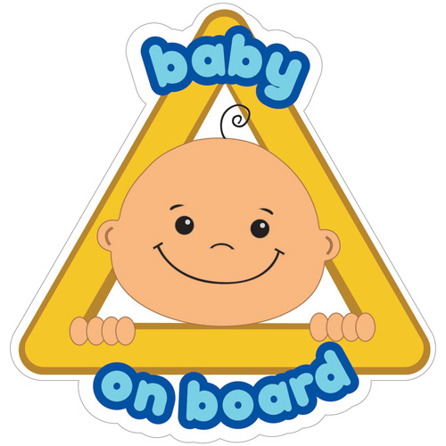 imagen-STICKERS DE VINIL ELECTROESTÁTICO IFERJOZ WINDOW STICKY BABY BOY ON BOARD