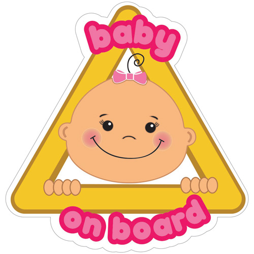 imagen-STICKERS DE VINIL ELECTROESTÁTICO IFERJOZ WINDOW STICKY BABY GIRL ON BOARD