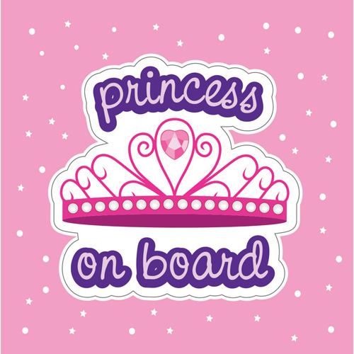 imagen-STICKERS DE VINIL ELECTROESTÁTICO IFERJOZ WINDOW STICKY PRINCESS ON BOARD