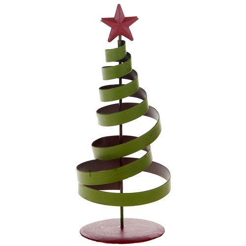 adorno navidad arbol espiral metal xcm verderojo