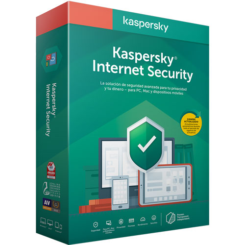 Kaspersky | KASPERSKY INTERNET SECURITY 3 DISPOSITIVOS 1 AÑO | lumen.com.mx