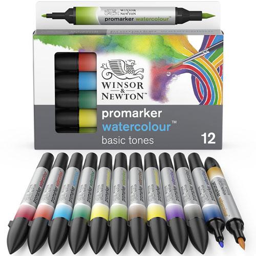 10 X Marcadores De Color De Agua Winsor /& Newton Colores Surtidos..