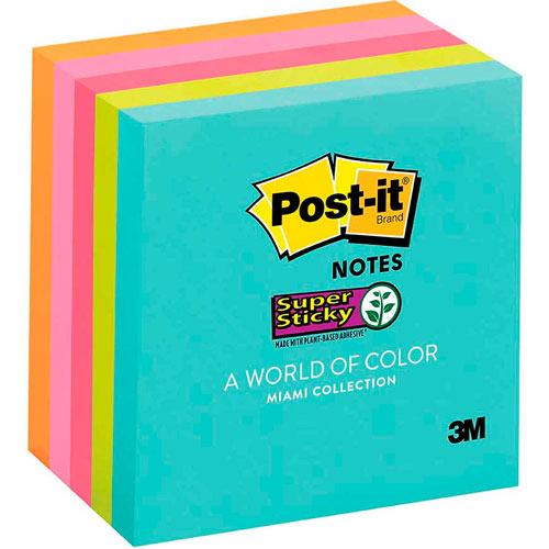imagen-NOTAS AUTOADHERIBLES POST IT® MIAMI COLLECTION 76X76 MM