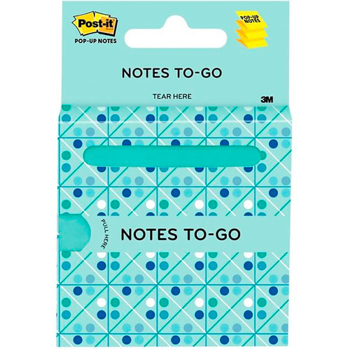 imagen-NOTAS AUTOADHERIBLES POST IT® POP UP TO GO 76X76 MM CON 100 HOJAS