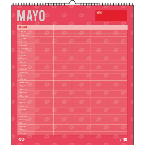 imagen-CALENDARIO DE PARED MIQUELRIUS FAMILIAR CHIC AND LOVE 29X34CM