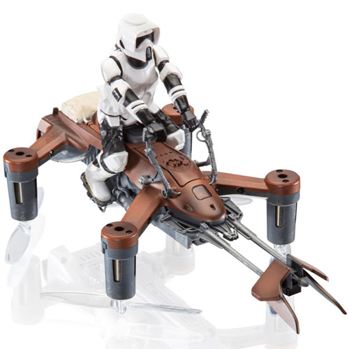 imagen-DRON STAR WARS SPEEDER BIKE 74-Z STORM TROOPER