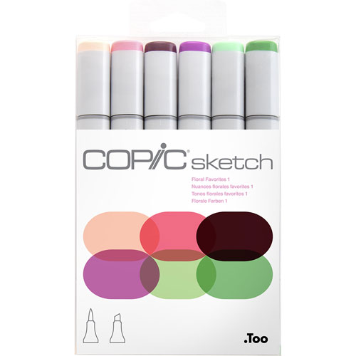 Copic | MARCADORES COPIC SKETCH FLORAL FAVORITES I CON 6 | lumen.com.mx