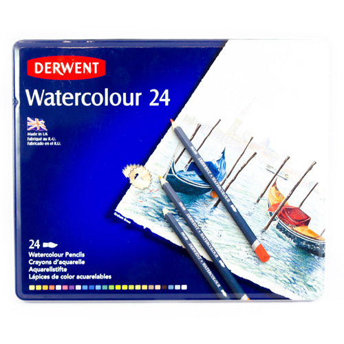 Derwent | LÁPICES DE COLORES DERWENT WATERCOLOUR CON 24 | lumen.com.mx