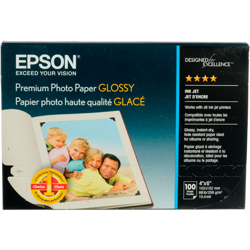 imagen-PAPEL EPSON PREMIUM GLOSSY 4X6 PLG PAQUETE CON 100 HOJAS