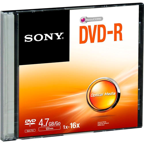 Sony | DVD-R SONY GRABABLE DE 4.7 GB 16X | lumen.com.mx