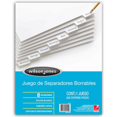 imagen-SEPARADOR BORRABLE WILSON AND JONES 8 DIVISIONES
