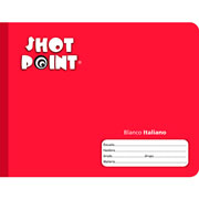 Shot Point | CUADERNO COSIDO FORMA ITALIANA SHOT POINT BLANCO 100 HOJAS(5) | lumen.com.mx