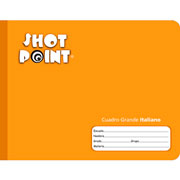 Shot Point | CUADERNO COSIDO FORMA ITALIANA SHOT POINT CUADRO GRANDE 100 HOJAS(4) | lumen.com.mx