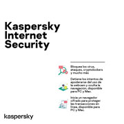 Kaspersky | KASPERSKY INTERNET SECURITY 1 DISPOSITIVO 1 AÑO(3) | lumen.com.mx