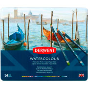 Derwent | LÁPICES DE COLORES DERWENT WATERCOLOUR CON 24(2) | lumen.com.mx