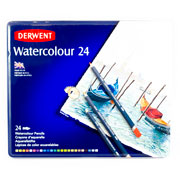 Derwent | LÁPICES DE COLORES DERWENT WATERCOLOUR CON 24(1) | lumen.com.mx